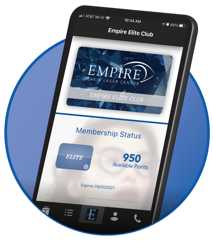 Empire Elite Club is Empire Eye and Laser Center's exciting loyalty program.